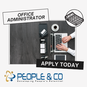 People Co office administrator invoices payments malta